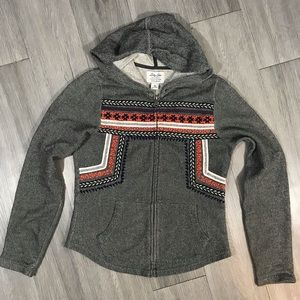 Lucky Lotus Lucky Brand Aztec Embroidered Hoodie